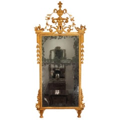 Italian 18th Century Tuscan Giltwood Mirror