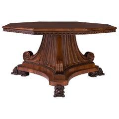 Italian 18th Century Tuscan Octagonal Walnut Center Table
