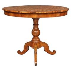 Italian 18th Century Walnut and Fruitwood Side Table