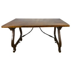 Italian 18th Century Walnut Trestle Table