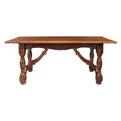 Italian 18th Century Walnut Trestle Table