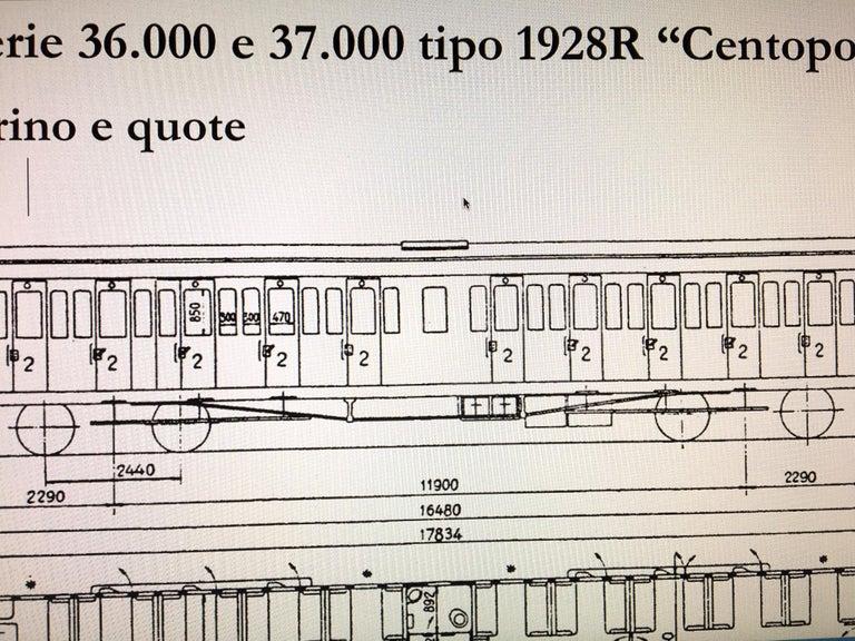 Italian 1928 Train Bench 3rd Class For Sale 9