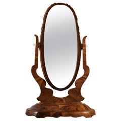 Italian 1930s Tall Mahogany Dressing Mirror, Italy