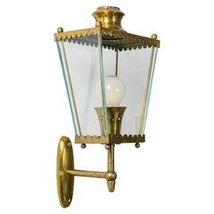 Italian 1940s Brass Lantern Sconce