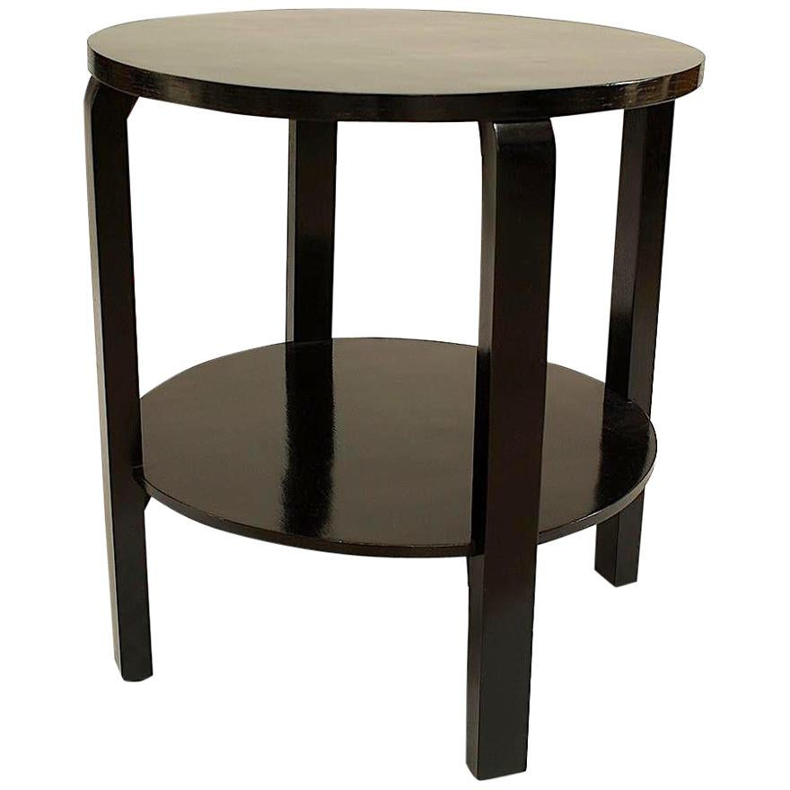 Italian 1940s Ebonized Round Table