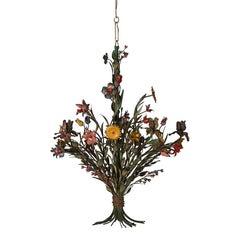 Italian 1940s Flower Chandelier