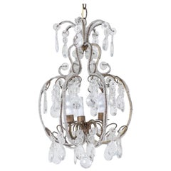 Italian 1940s Italian Crystal Beaded Chandelier