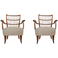 Italian Pair of 1940s Armchairs