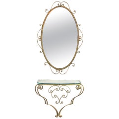 Art Deco Pier Mirrors and Console Mirrors
