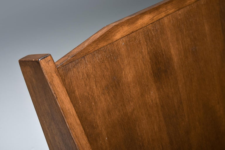 Italian 1940s Settee in Stained Beech For Sale 2