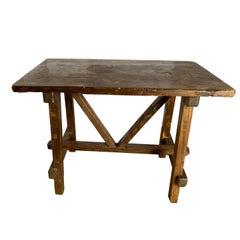 Italian 1940s Walnut Small Side Table