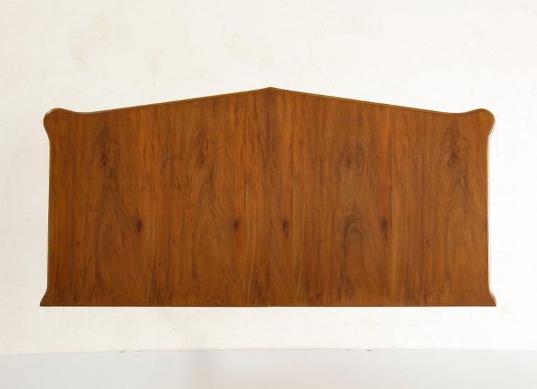 Italian 1940s Walnut Two-Door Cabinet For Sale 9