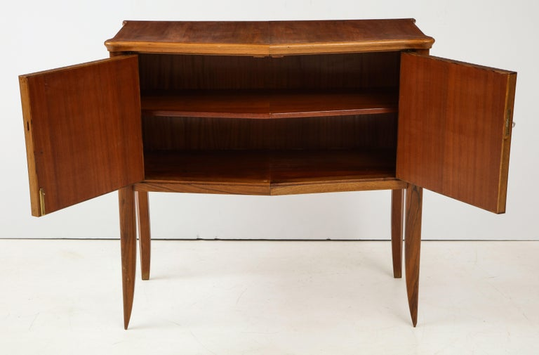 Italian 1940s Walnut Two-Door Cabinet In Excellent Condition For Sale In New York, NY