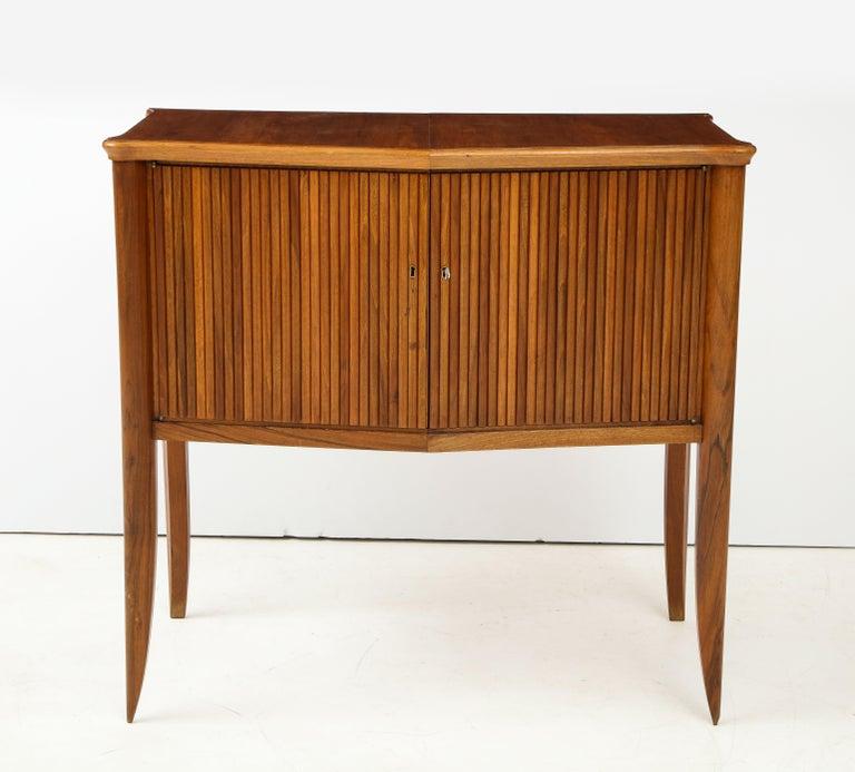 Mid-20th Century Italian 1940s Walnut Two-Door Cabinet For Sale