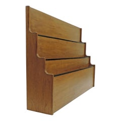 Italian 1940s Wooden Architectural Drawings Wall Holder