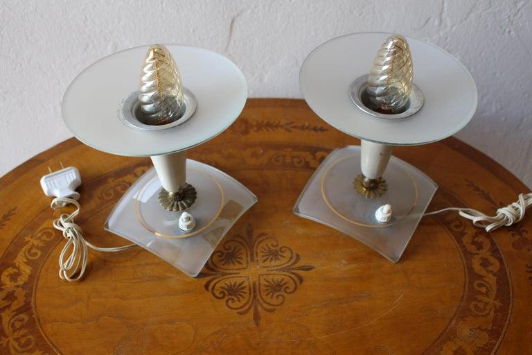 Mid-Century Modern Italian 1950s Pair of Table Lamp For Sale