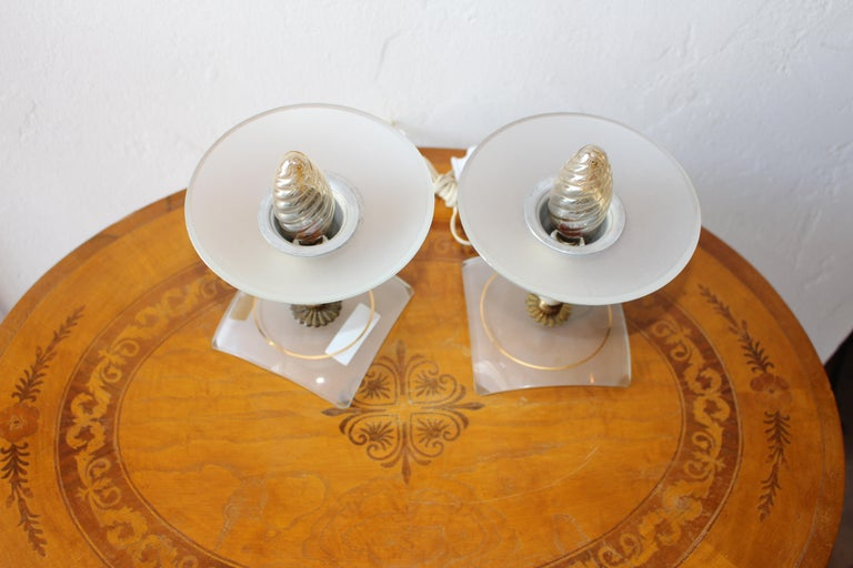 Mid-20th Century Italian 1950s Pair of Table Lamp For Sale