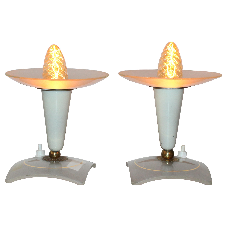 Italian 1950s Pair of Table Lamp