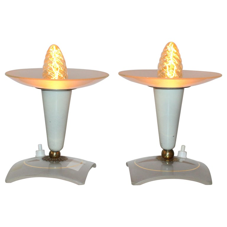 Italian 1950s Pair of Table Lamp For Sale