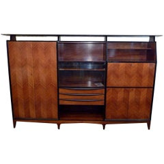 Italian 1950s Armoire in the Manner of Paolo Buffa