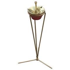 Italian 1950s Ashtray Mid-Century Modern Brass Aluminum