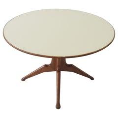 Italian 1950s Circular Dining table Att. to Ico Parisi