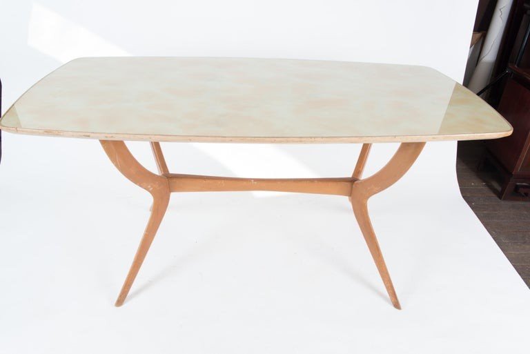 Mid-Century Modern Italian 1950s Dining Table or Writing Table For Sale