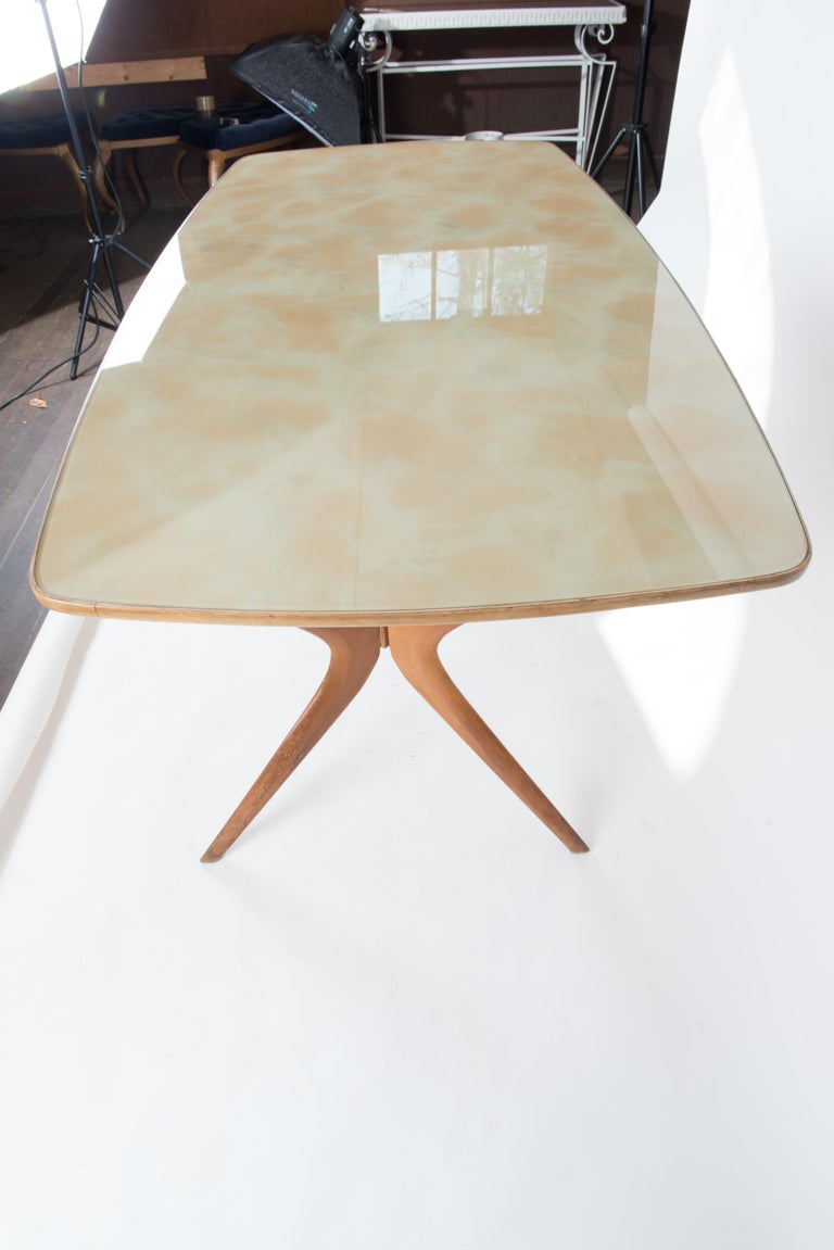 Italian 1950s Dining Table or Writing Table In Good Condition For Sale In Stamford, CT
