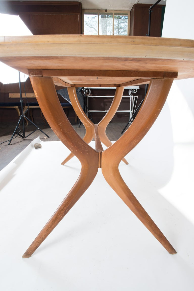 Mid-20th Century Italian 1950s Dining Table or Writing Table For Sale