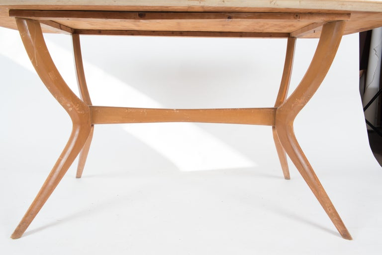 Italian 1950s Dining Table or Writing Table For Sale 3