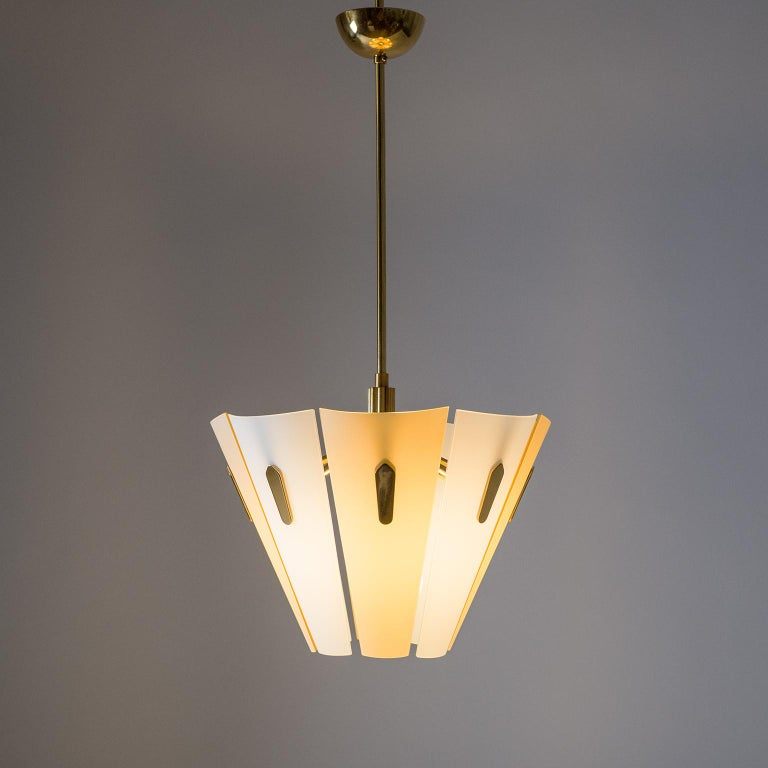 Mid-Century Modern Italian Dual Color Glass Chandelier, 1950s  For Sale