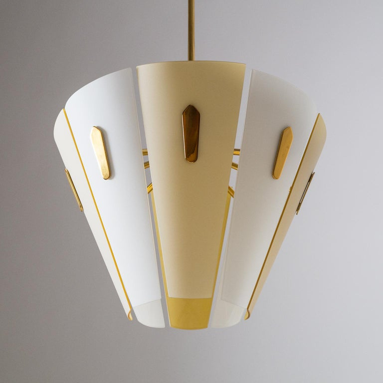 Italian Dual Color Glass Chandelier, 1950s  For Sale 6
