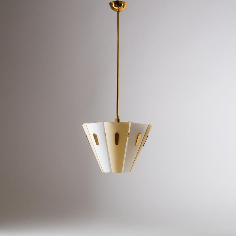 Italian Dual Color Glass Chandelier, 1950s  For Sale 8