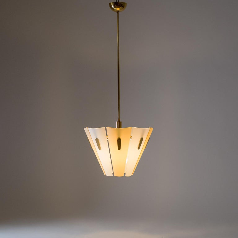 Italian Dual Color Glass Chandelier, 1950s  For Sale 9