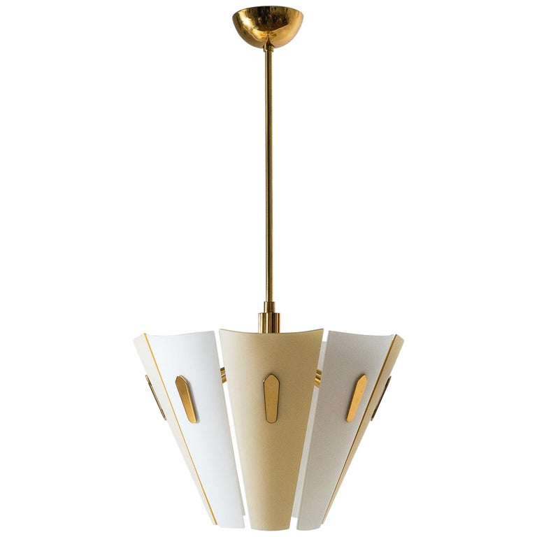 Italian Dual Color Glass Chandelier, 1950s  For Sale
