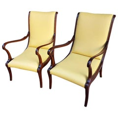 Italian 1950s Leather Lounge Chairs