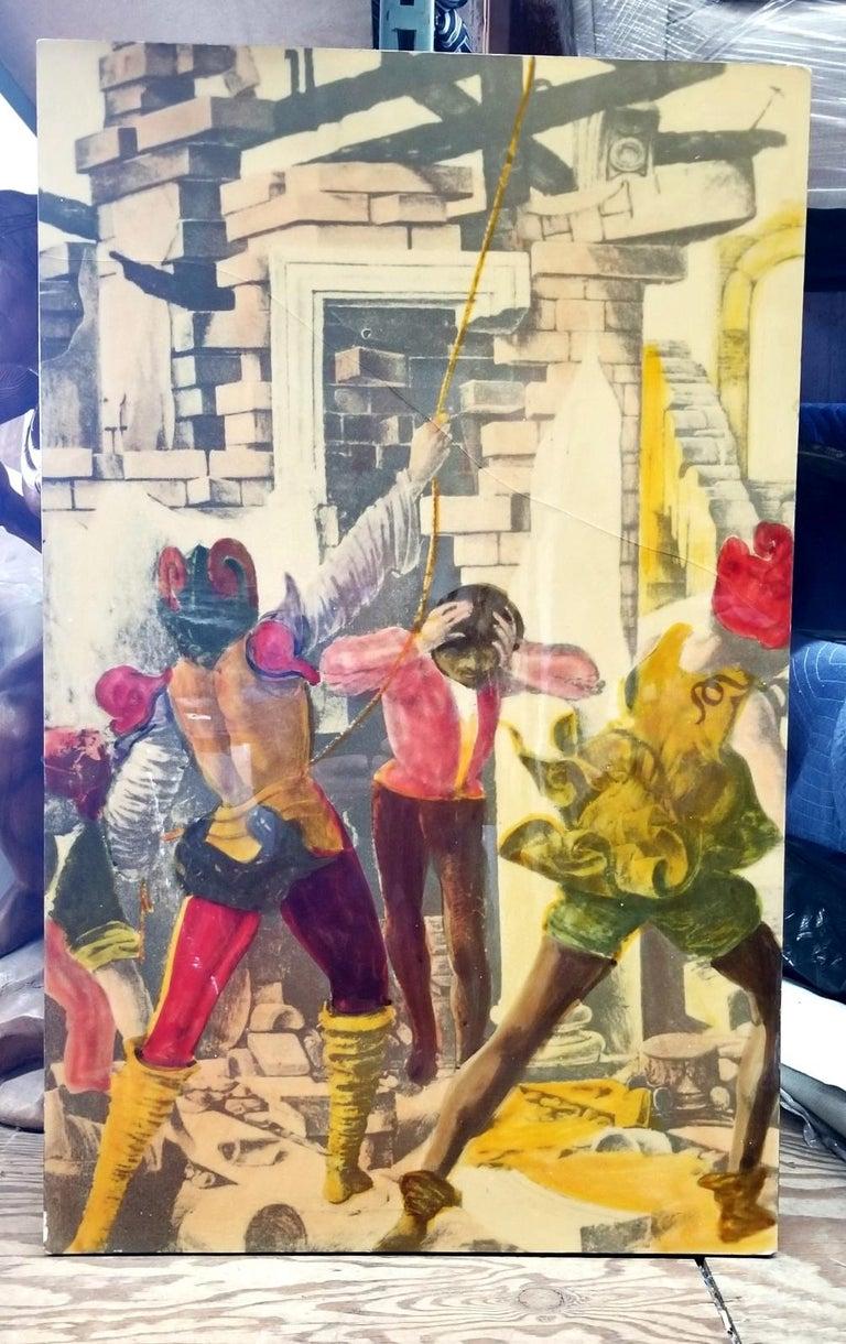 Italian 1950s litografia Artistica  In Good Condition For Sale In Los Angeles, CA