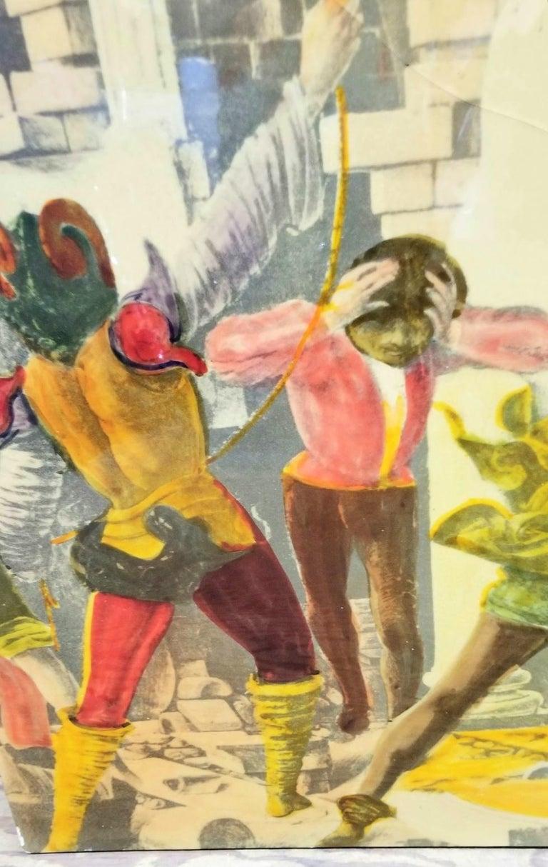 Mid-20th Century Italian 1950s litografia Artistica  For Sale