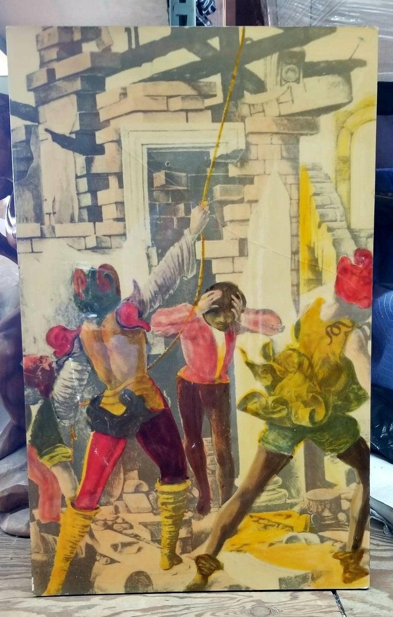 Epoxy Resin Italian 1950s litografia Artistica  For Sale