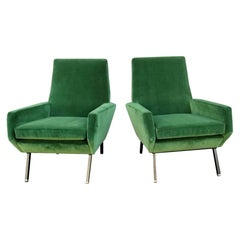 Italian, 1950s Lounge Chairs Attributed to Arflex-Meda