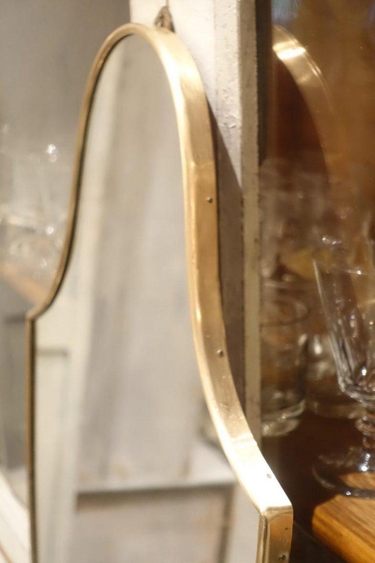Brass Italian 1950s Mirror-Shield Shape