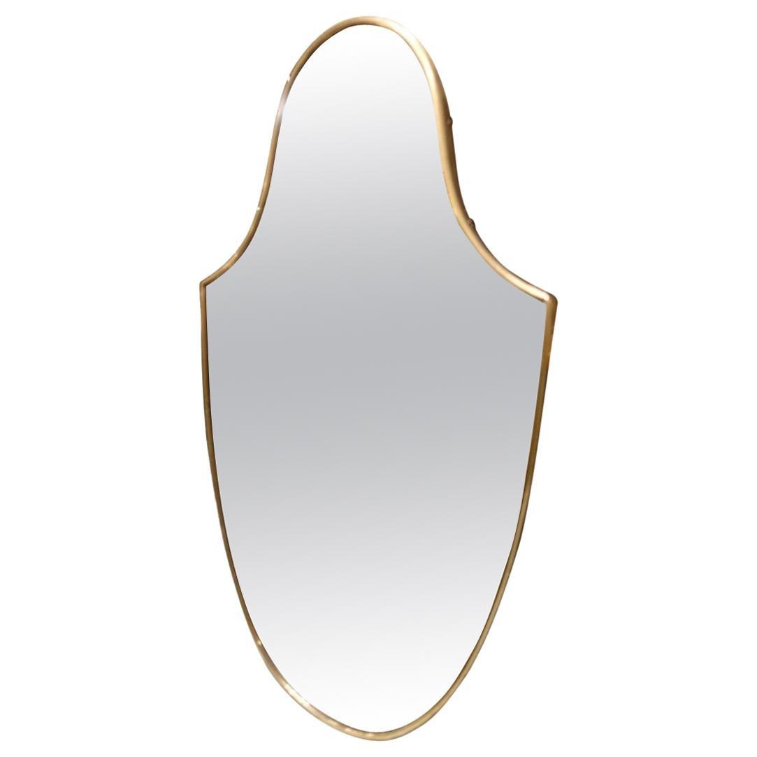 Italian 1950s Mirror-Shield Shape
