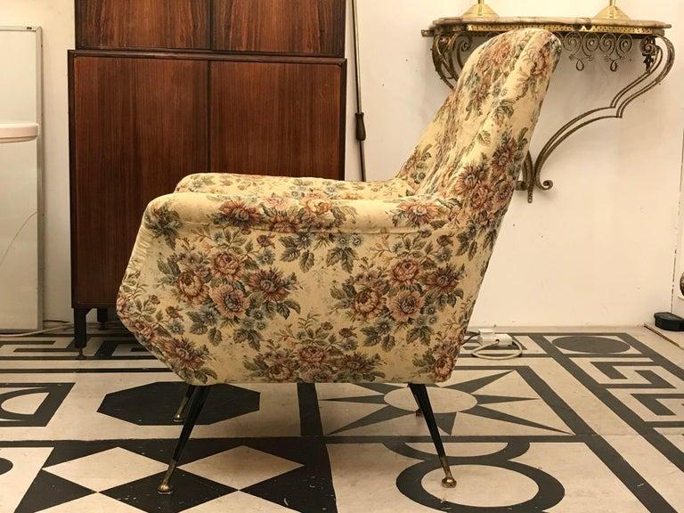 Mid-20th Century Italian 1950s Pair of Mid-Century Modern Armchairs For Sale