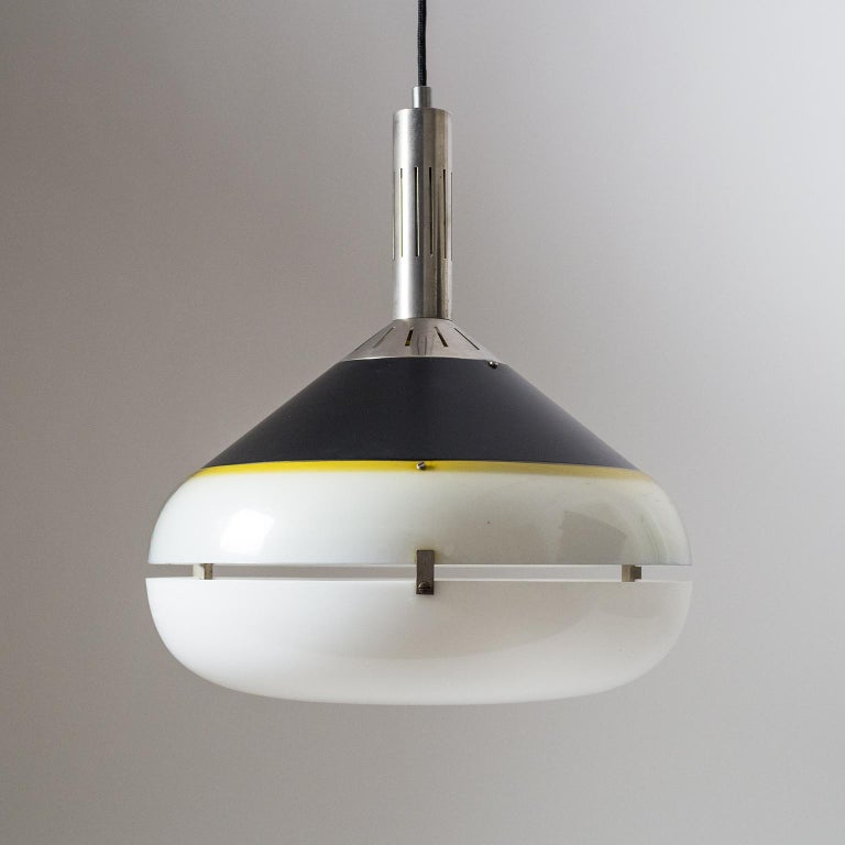 Mid-Century Modern Italian 1950s Pendant by Stilux For Sale