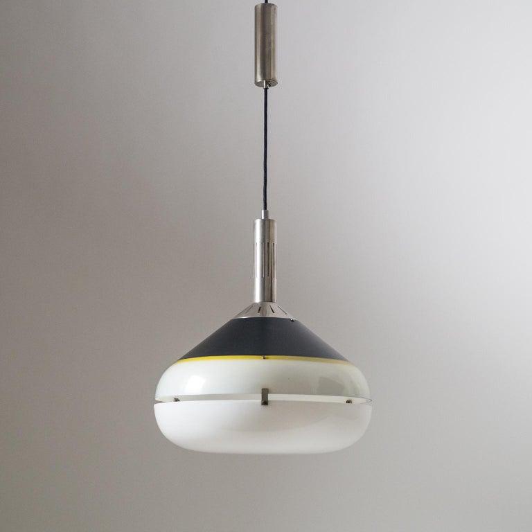 Nickel Italian 1950s Pendant by Stilux For Sale