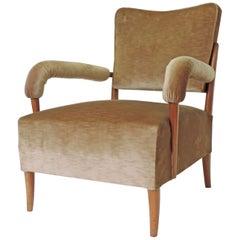 Italian 1950s Sculptural Single Armchair