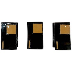 Italian 1950s Set of 3 Modern Ceramic Door or Cabinet Handles