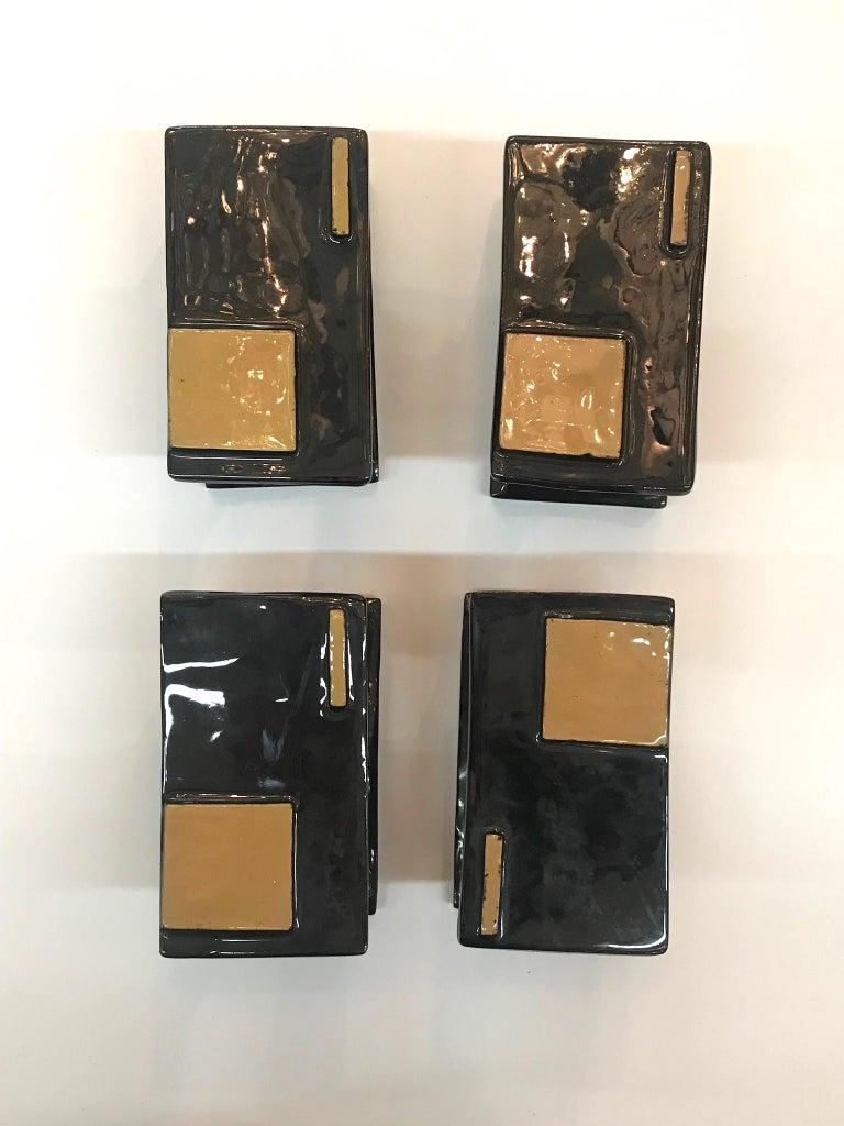 Italian 1950s Set of 6 Modern Ceramic Door or Cabinet Handles For Sale 5