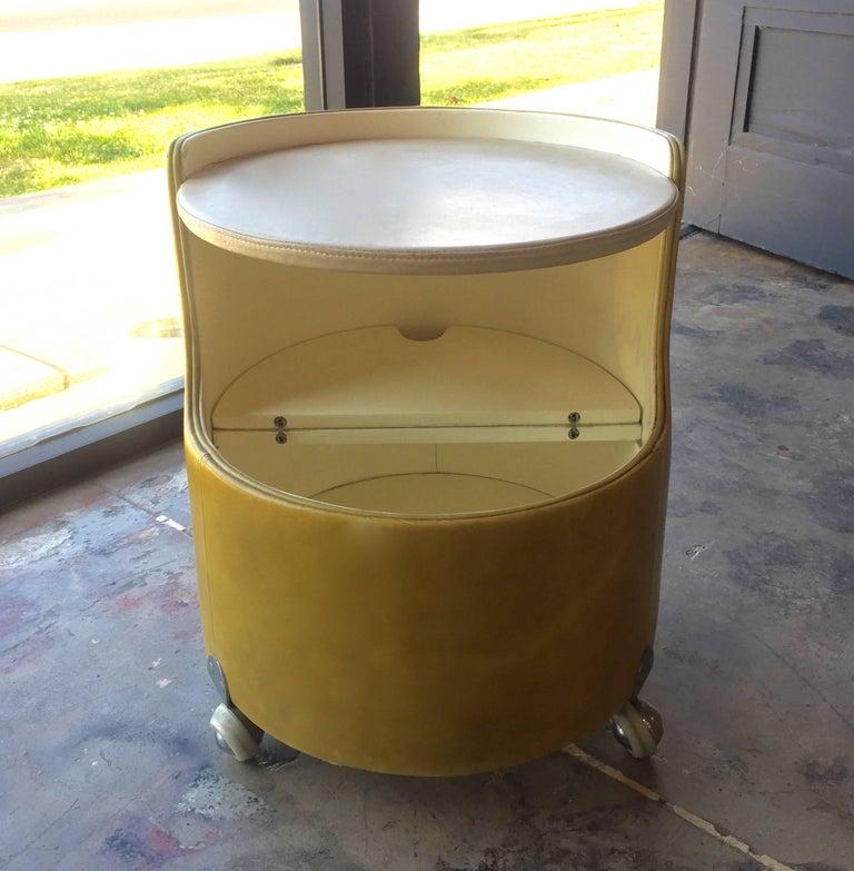 Mid-Century Modern Italian, 1960s Frau Leather Nightstand For Sale