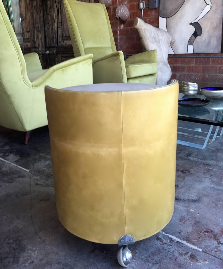 Italian, 1960s Frau Leather Nightstand In Good Condition For Sale In Los Angeles, CA